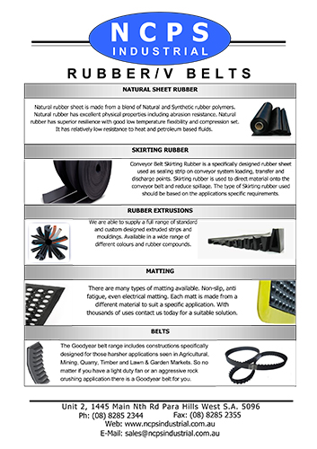 RUBBER / V-BELTS