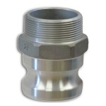 Type F Aluimimum Male Adaptor X M Thread