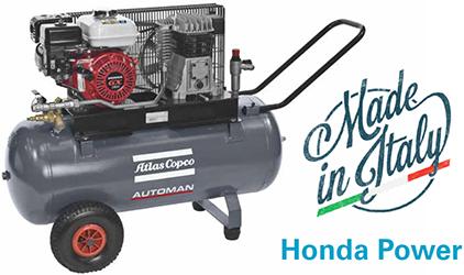 Atlas Copco AC Automan Air Compressor AC55 Honda Petrol